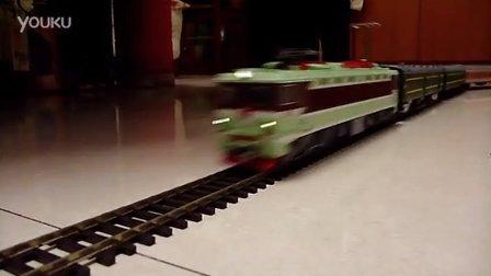 韶山3电力机车模型牵引混编客列高速