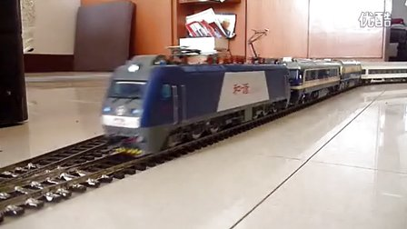 """和谐D3模型牵引卧铺车""""回送""""东风8B东风11"""