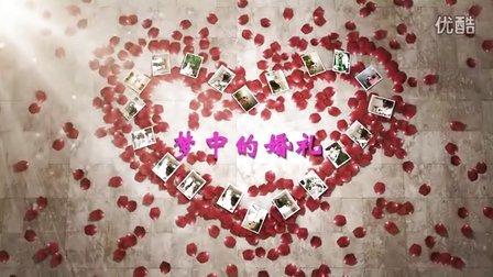 加片头爱的供养高清婚礼开场视频3D电子相册制作片头韩式服务创意