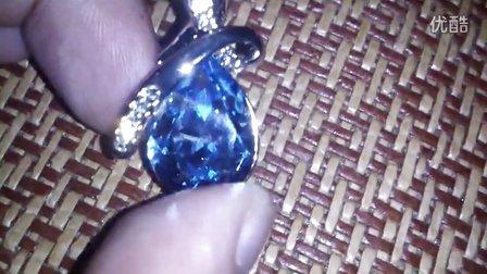 【实拍】施华洛世奇水晶元素项链 闪闪发光!