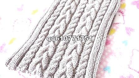 编织扭麻花围巾的织法
