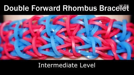 14 Rainbow Loom®双拼菱形手链彩虹织机手链视频教程