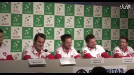 费德勒在瑞士戴杯决赛前新发会谈背伤 瓦林卡开玩笑俩人哈哈哈