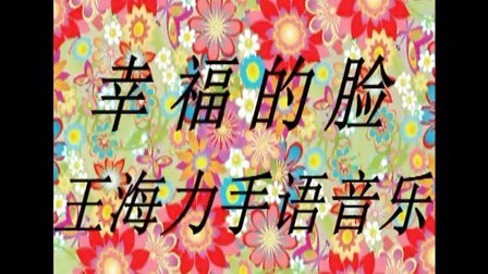 《幸福的脸》王海力手语音乐