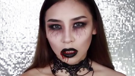 万圣节妆容!僵尸妆女巫妆Easy Vampire Halloween Makeup Tutorial