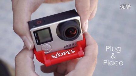 SLOPES: 灵动的GoPro支架!2秒钟布置GoPro!