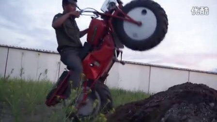 超级越野古董摩托车惊现海拉尔区
