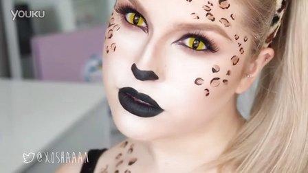 [纯搬运]万圣节妆容|豹子&猫Sexy Leopard & Cute Tabby Cat! ♡ 2-in-1 Cat Halloween Tutorial!
