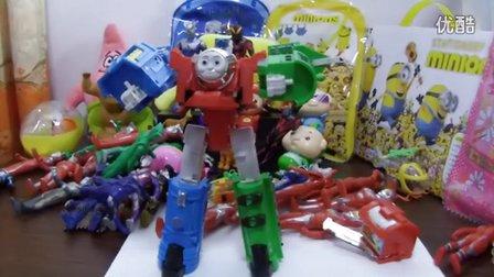 亲子游戏 托马斯变身机器人玩具 早教