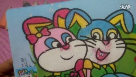 亲子沙画游戏小白兔丛林历险托马斯小火车