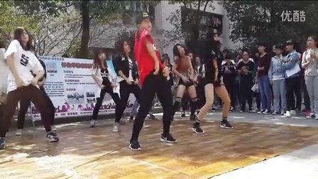 怀化学院街舞协会New Step Crew  2015社团招新 黄太志 (光熙/太阳/GD) - 我的天+bang bang bang