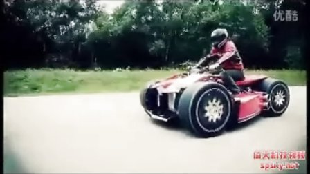 世界上最牛的超级摩托:法拉利引擎、时速300