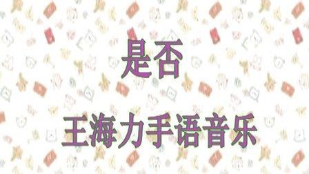 《是否》王海力手语音乐