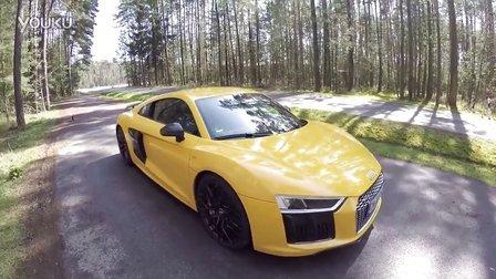 2016奥迪Audi R8 V10 Plus德国高速狂飙300  km-h