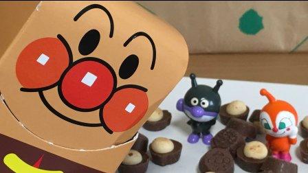 【happy face】【children】 面包超人 玩具巧克力
