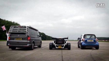 大众California vs Atom 3.5R vs Smart Top Gear直线加速赛