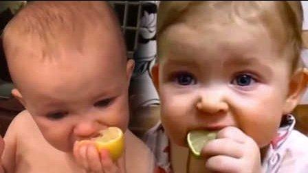 笑死不偿命:萌娃吃柠檬的奇葩囧表情