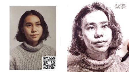 周杨老师示范女青年头像—正面