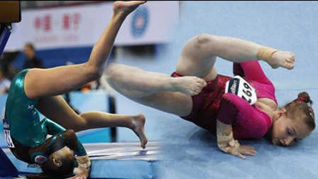 笑死不偿命:美女体操运动爆笑失误集