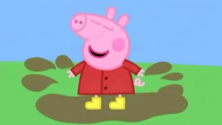 粉红猪小妹跳水坑,还有她的小伙伴呢,小猪佩奇还叫上老师了