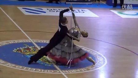 2016 WDSF Marín STD SF&Final 西班牙摩登舞决赛及半决赛 -Madis Abel & Aleksandra