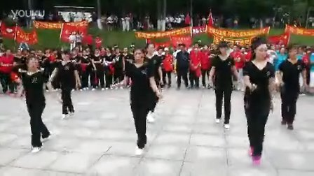百合曳步舞团队龙潭山演出1