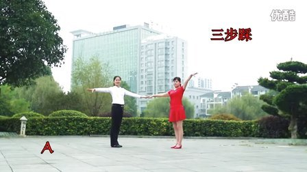 刘玫广场舞《十送红军》三步踩ABC套路