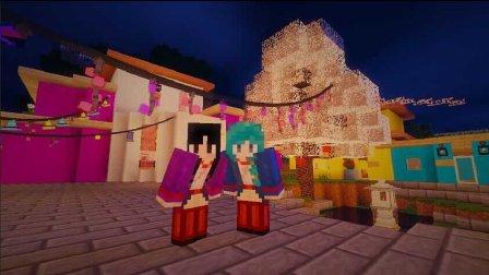 艾暮米月【奇迹小镇】四季风多模组生存37 张灯结彩好喜庆 Minecraft我的世界
