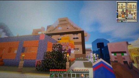 艾暮米月【奇迹小镇】四季风多模组生存40 小镇民去大城镇 Minecraft我的世界