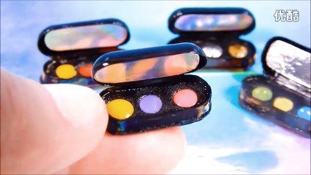 DIY化妆盒眼影盒手工diy创意视频益智手工亲子游戏少儿生活综艺小e玩具