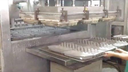 必硕科技纸浆模塑半自动往复式蛋托生产线