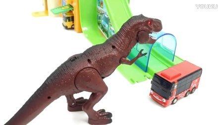 变形警车珀利 POLI 火警指挥中心玩具 恐龙攻击!恐龙玩具 变形机器人车珀利 恐龙机器人改造tayo小巴士