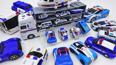 警车载具和警车玩具收藏 车珀利 有趣的儿童玩具2017 小汽车欧力 变形警车珀利和迪斯尼玩具  直升机 巴士Police Car Toys