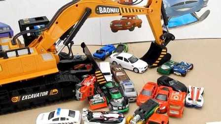 拆箱玩具挖掘机 RC挖掘机 为孩子们视频 宝宝儿子来看一看 !!!