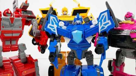 变形金刚  Miniforce Robot Transfomer 红 黄 蓝粉红色机器人 小儿科