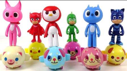 流行的玩具 PJ MASKS Toys cartoon for kids  睡衣天使和精彩的歌舞
