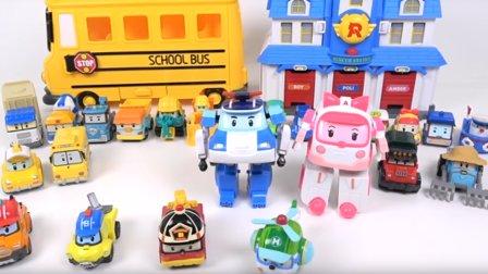 车珀利 汽车人装配  变形警车珀利 玩具汽车 小汽车玩具游戏 新的魔术玩具 动画片小汽车玩具游戏