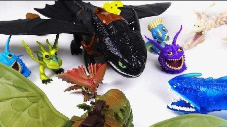令人毛骨悚然的玩具 不寻常的恐龙 小儿科  龙的战争驯龙龙! 三步转型