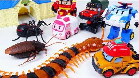 车珀利 汽车人装配 变形警车珀利 玩具汽车 小汽车玩具游戏 集合蠕动的玩具 蜈蚣蜘蛛甲虫  超级玩具 我的世界玩具 卡通玩具令人毛骨悚然 变形警车珀利 新系列
