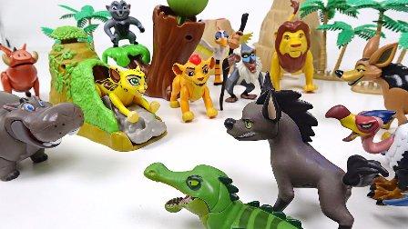 千玩具 狮子王 鬣狗鳄鱼鹰 狮子王和他的朋友们 卡通的流行的玩具