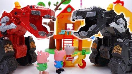 佩佩猪和朋友恐龙  粉红猪小妹 一系列的玩具 粉红猪小妹全集 动画片 佩佩和恐龙