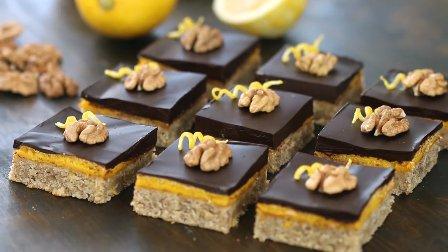 颜值很高适合送人的烘焙,核桃柠檬蛋糕