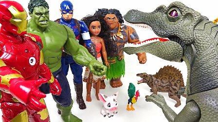 玩具绿巨人蜘蛛侠钢铁侠美国队长与恐龙 玩具超级英雄