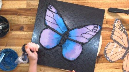 怎么做蝴蝶生日蛋糕