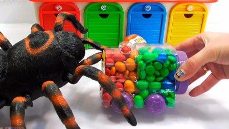 泡泡糖汽车 惊喜蛋和甜食 巨人蜘蛛 恐龙攻击惊喜蛋M&M的糖果火车 婴儿视频 玩具世界 惊喜蛋和甜食