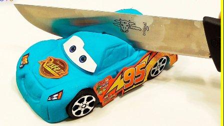赛车总动员闪电麦昆组装变形汽车 迪士尼汽车闪电麦昆  儿童玩具 PLAY DOH橡皮泥 从橡皮泥车