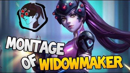【爆米花】12个黑百合相爱相杀丨守望先锋自定义新模式体验★Montage of Widowmaker