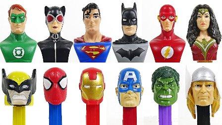 糖果英雄战斗 绿巨人美国队长美国队长VS蝙蝠侠超级英雄 流行的玩具