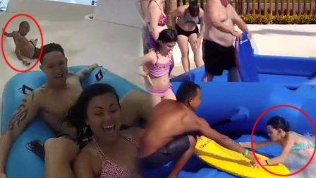 笑死不偿命 湿!妹子落水的各种奇葩姿势