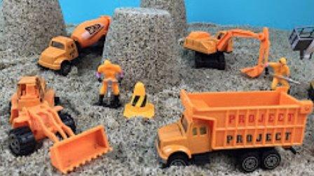 挖土机动画片 挖掘机工作视频 钩机工作视频 吊车视频表演